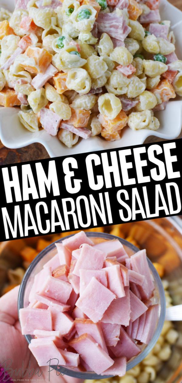 Macaroni Salad with Ham and Cheese Pin 1