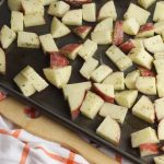 Spread the potatoes in a single layer over a large baking sheet