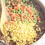 Shepherd's pie includes corn, peas and ground beef