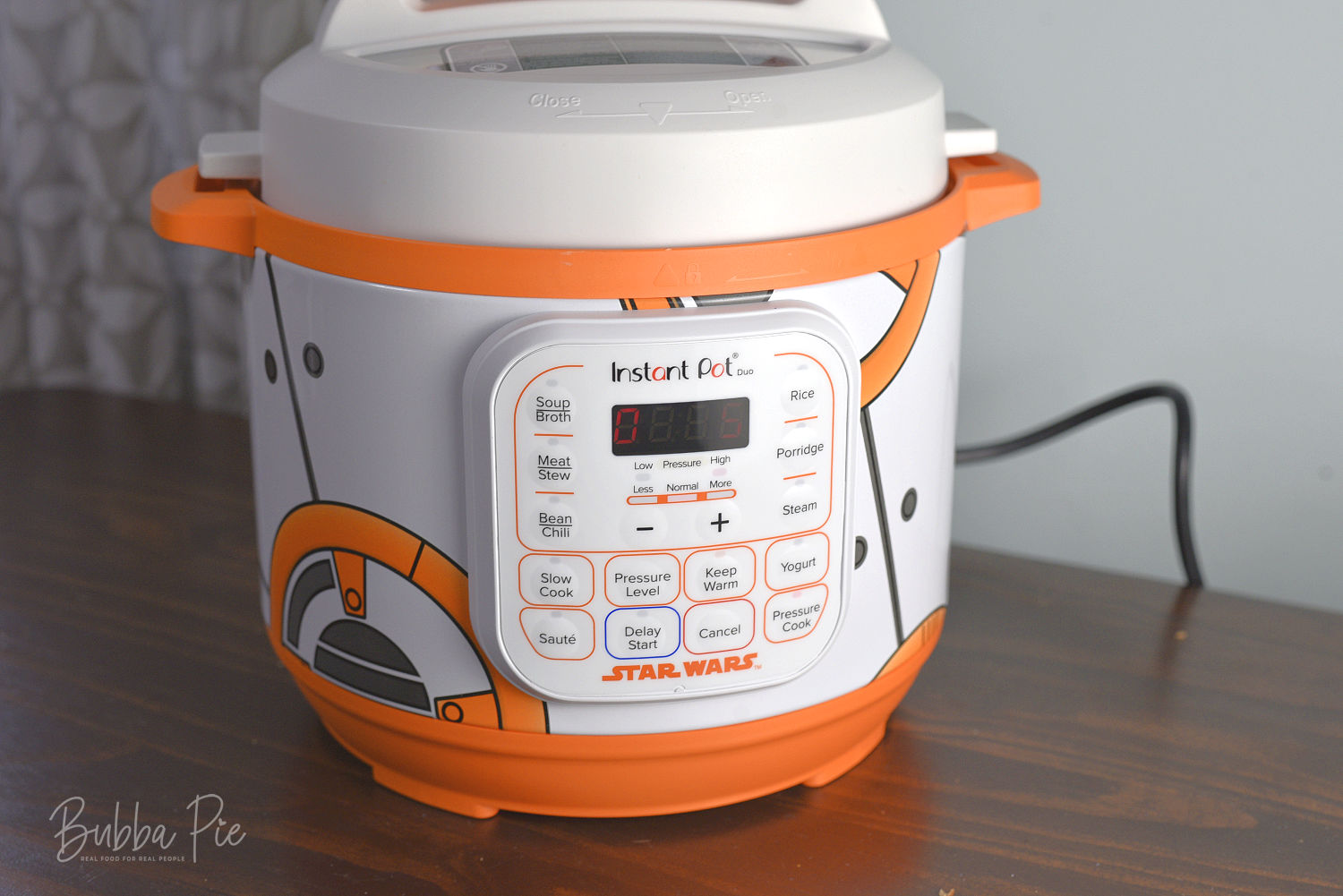 A star wars themed instant pot sitting on a table