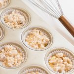 Sprinkle the sugar over lemon muffin topping