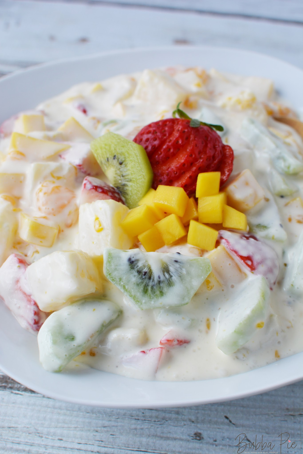 Hawaiian Cheesecake Fruit Salad is a creamy and light dessert for any occasion.