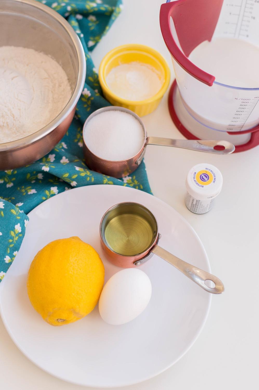 Lemon Breakfast Muffins Recipe Ingredients include lemon zest, sugar and eggs.