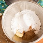mix together butter, confectioners' sugar, cocoa powder and milk