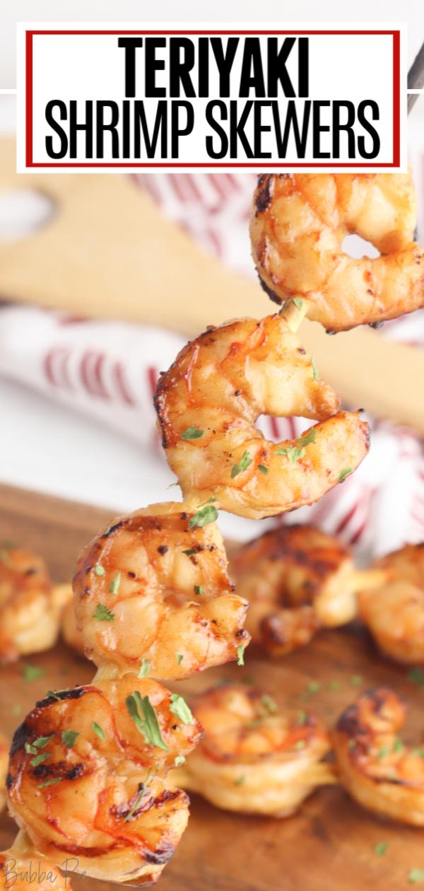 Teriyaki Shrimp Skewers Pin