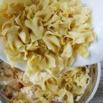 Adding pasta to crack chicken casserole