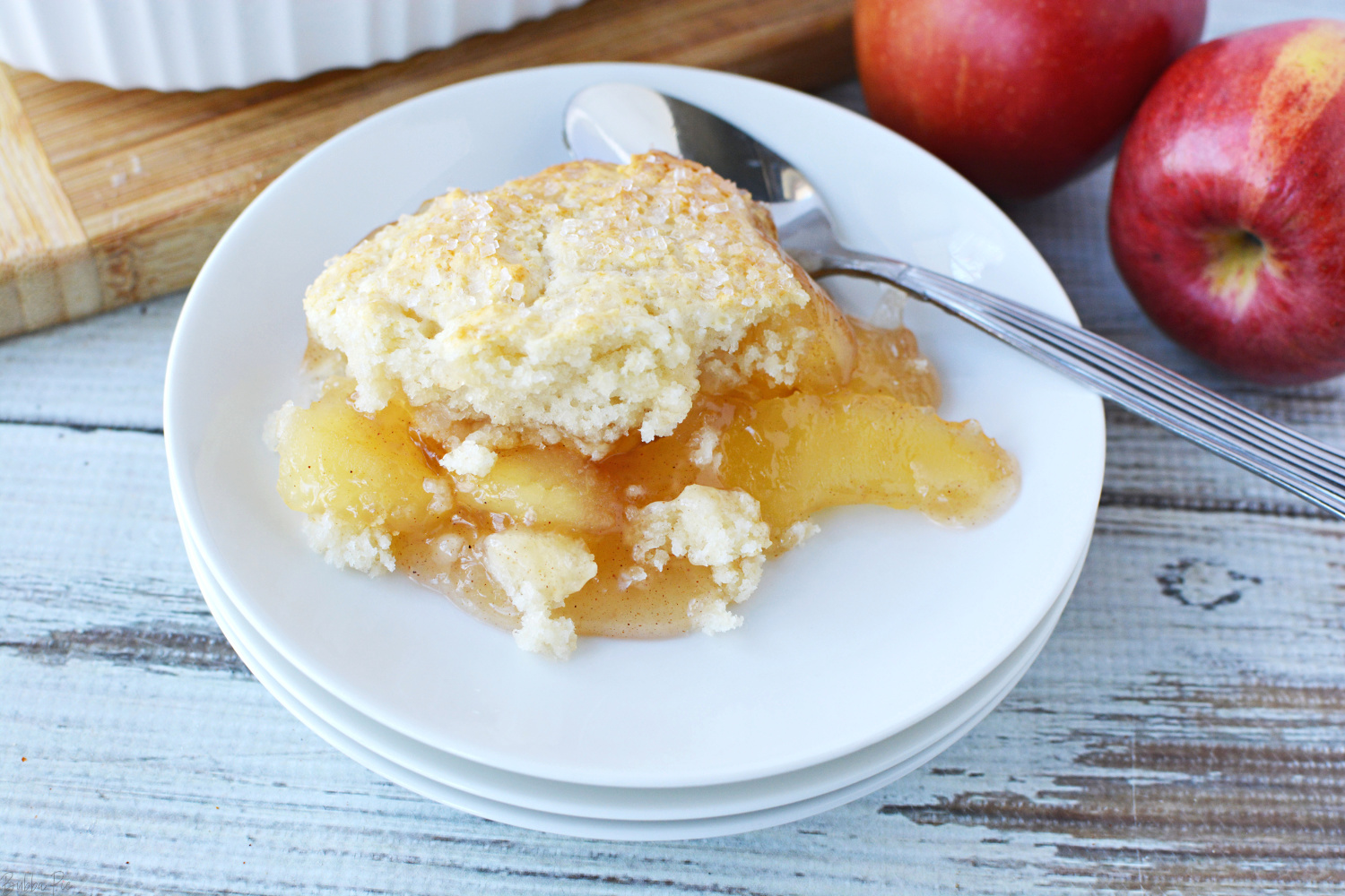 Bisquick Apple Cobbler is a quick and easy Thanksgiving dessert recipe.