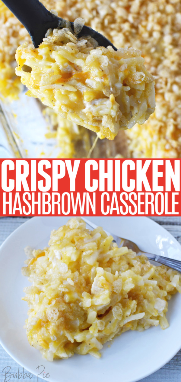 Chicken Hashbrown Casserole Pin1