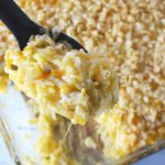 Chicken Hashbrown Casserole Recipe is cheesy with a crispy topping.