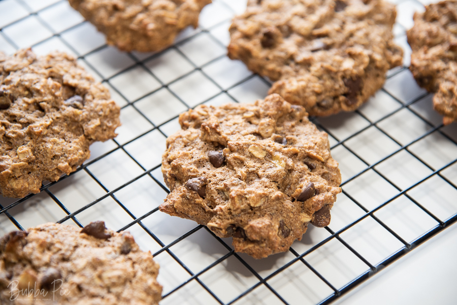 Oatmeal Breakfast Cookies on a cooling rack ready to be served.