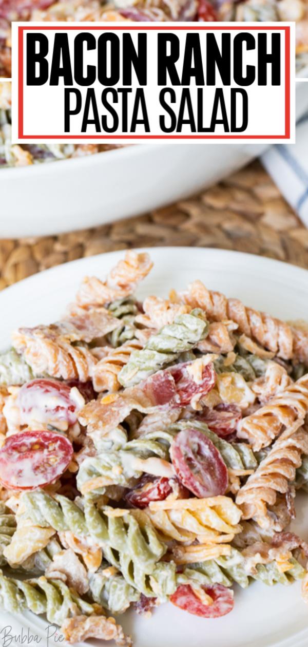 Bacon Ranch Pasta Salad Pin1