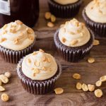 Chocolate Belgian Beer Cupcakes made with buttercream frosting