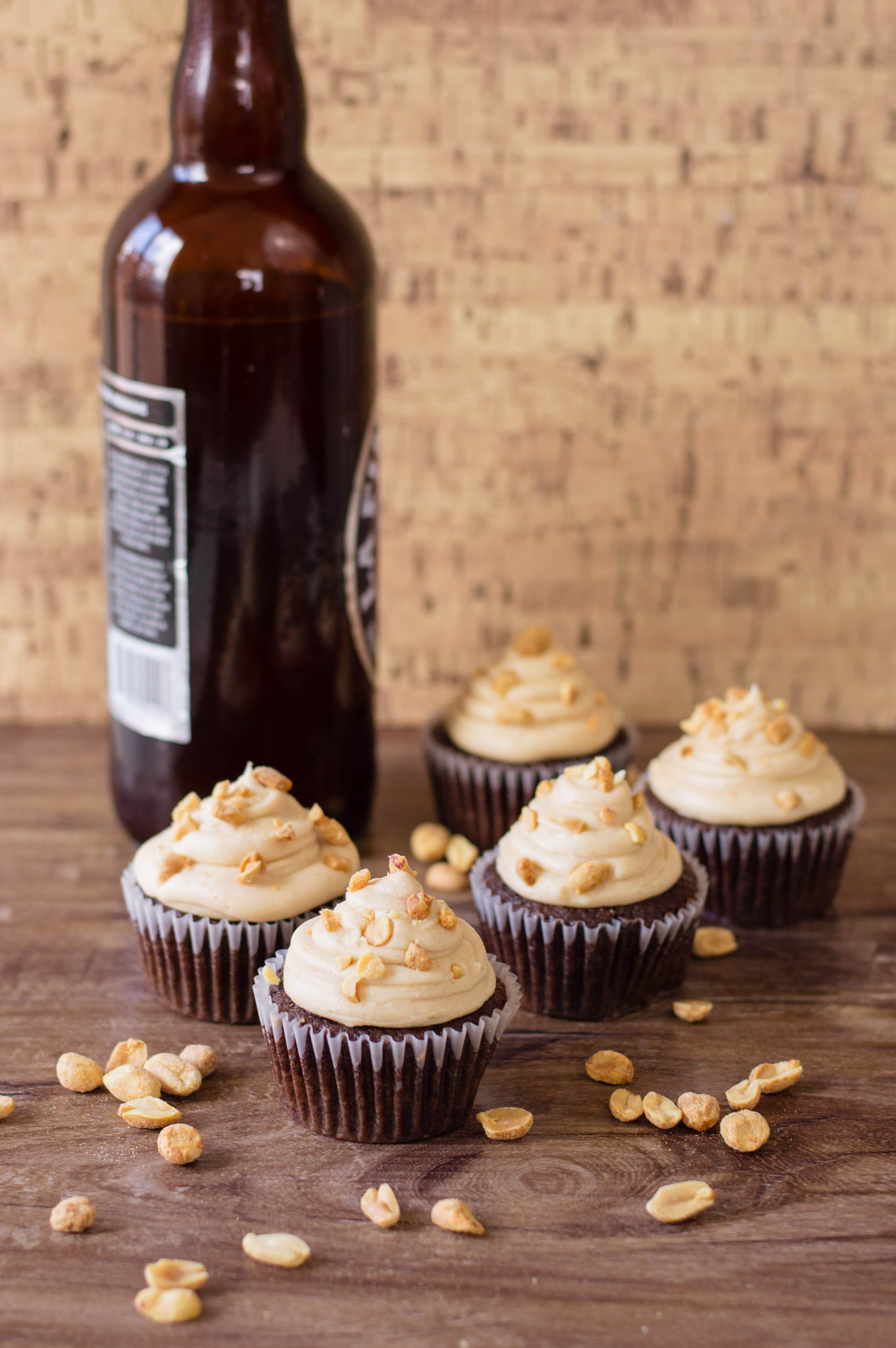 Chocolate Cupcakes with belgian beer.