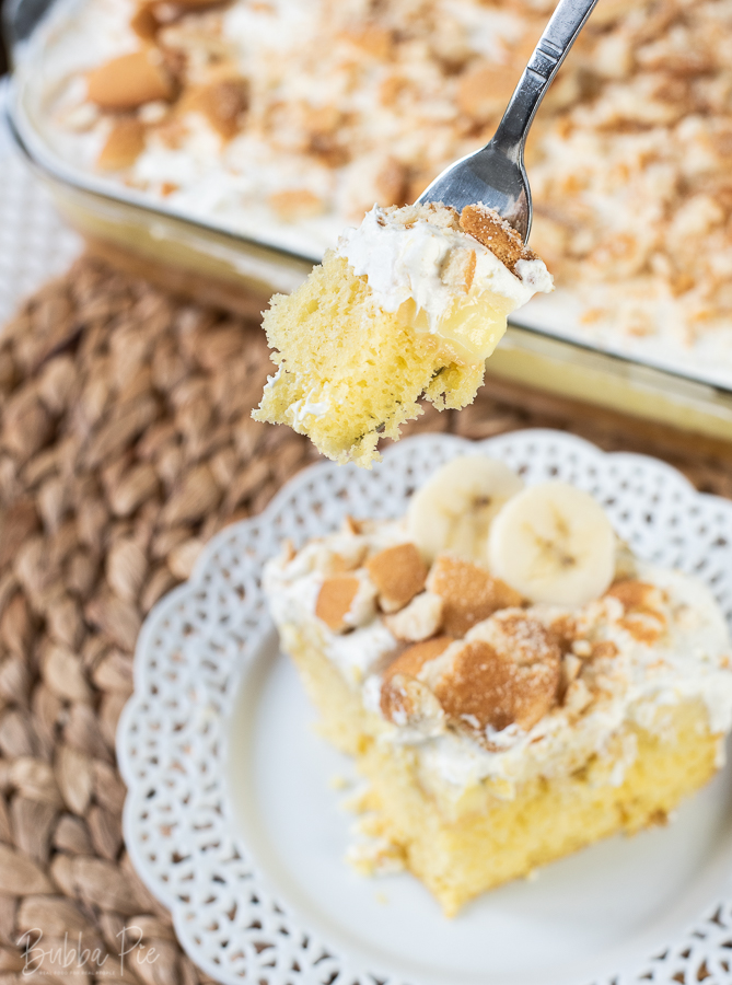 Banana Pudding Poke Cake Recipe is light, creamy and delicious.