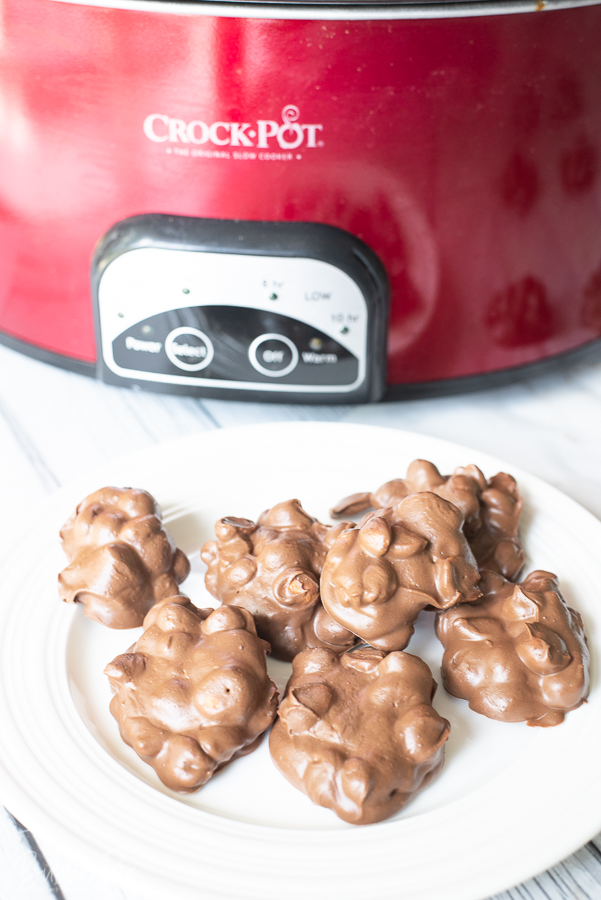 Crockpot Peanut Clusters are incredibly easy to make in your slow cooker.