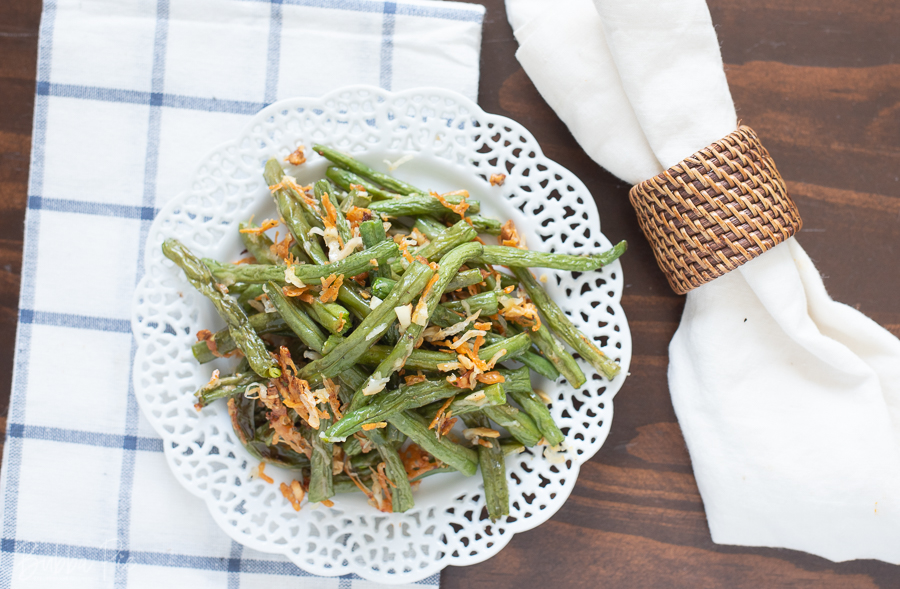 Garlic Parmesan Roasted Green Beans