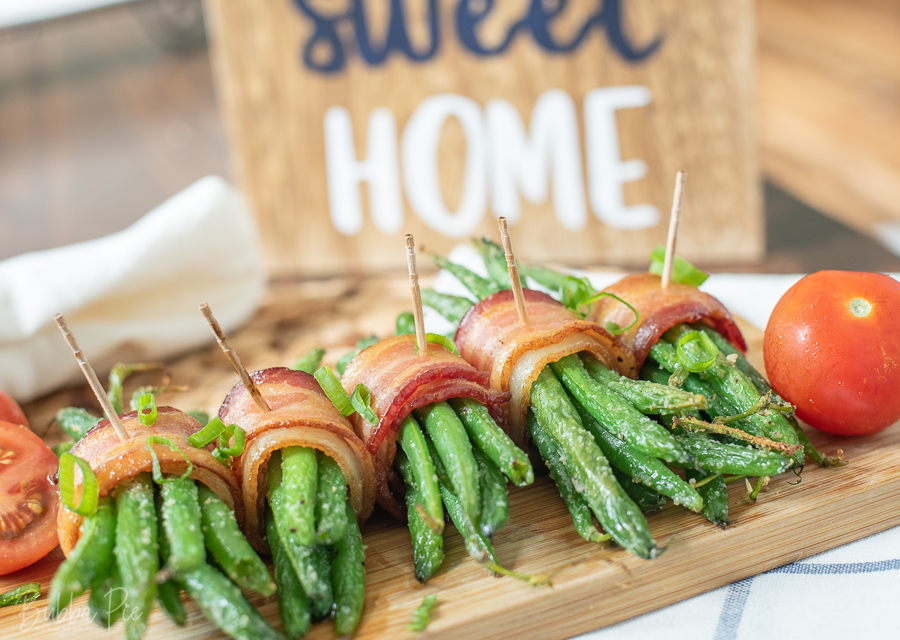 Green Beans Wrapped In Maple Glazed bacon