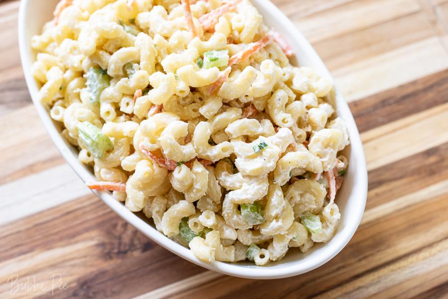 Hawaiian Macaroni Salad is a light and creamy side dish.