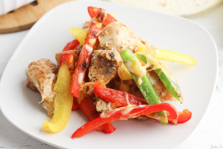 Keto Friendly casserole with chicken fajitas