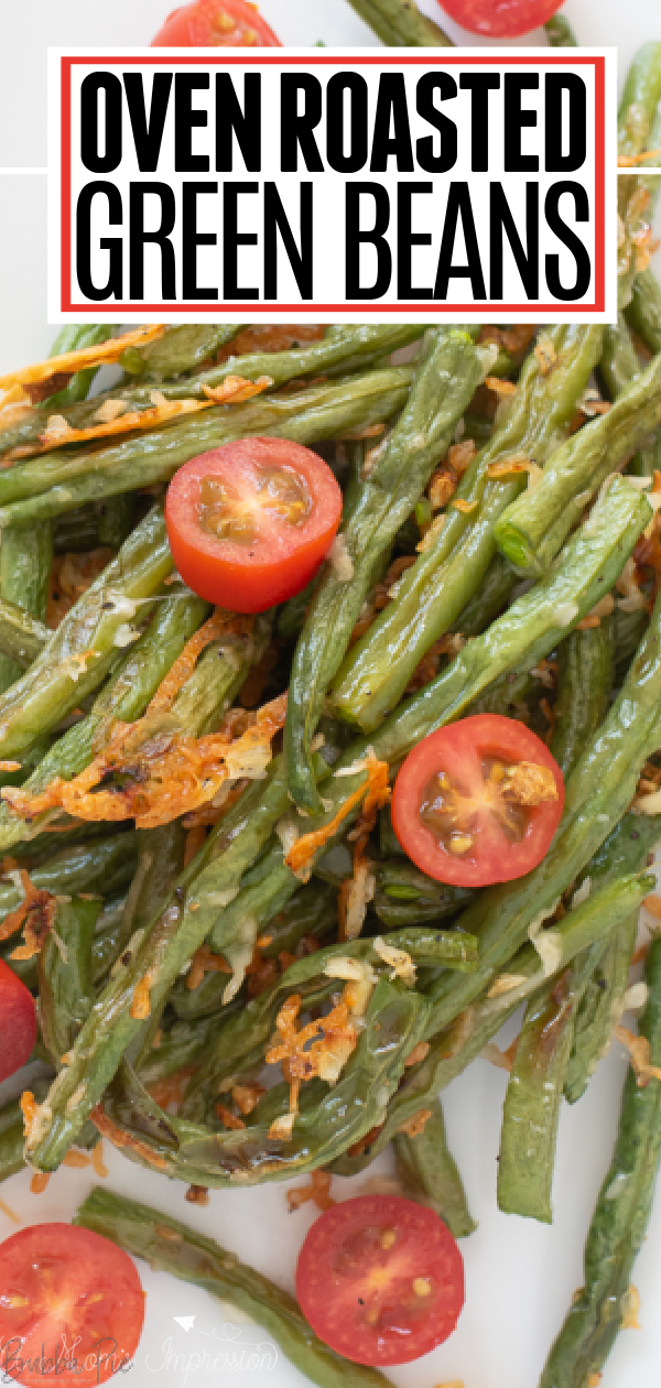 Oven Roasted Green Beans Pin 1