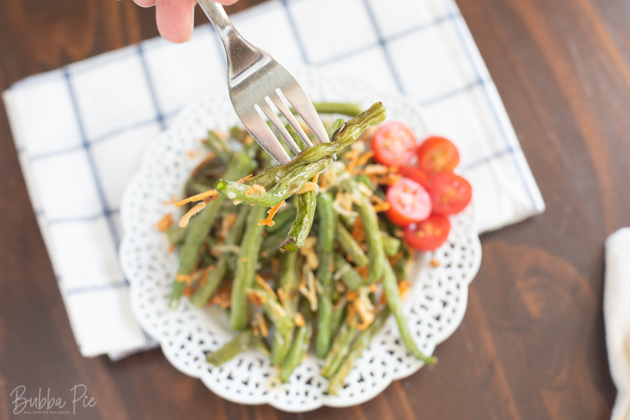 Oven Roasted Green Beans Recipe makes a great side dish for Thanksgiving.