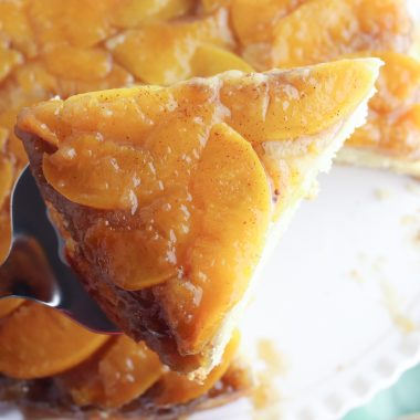 Peach Upside Down Cake Recipe is a great summer dessert recipe