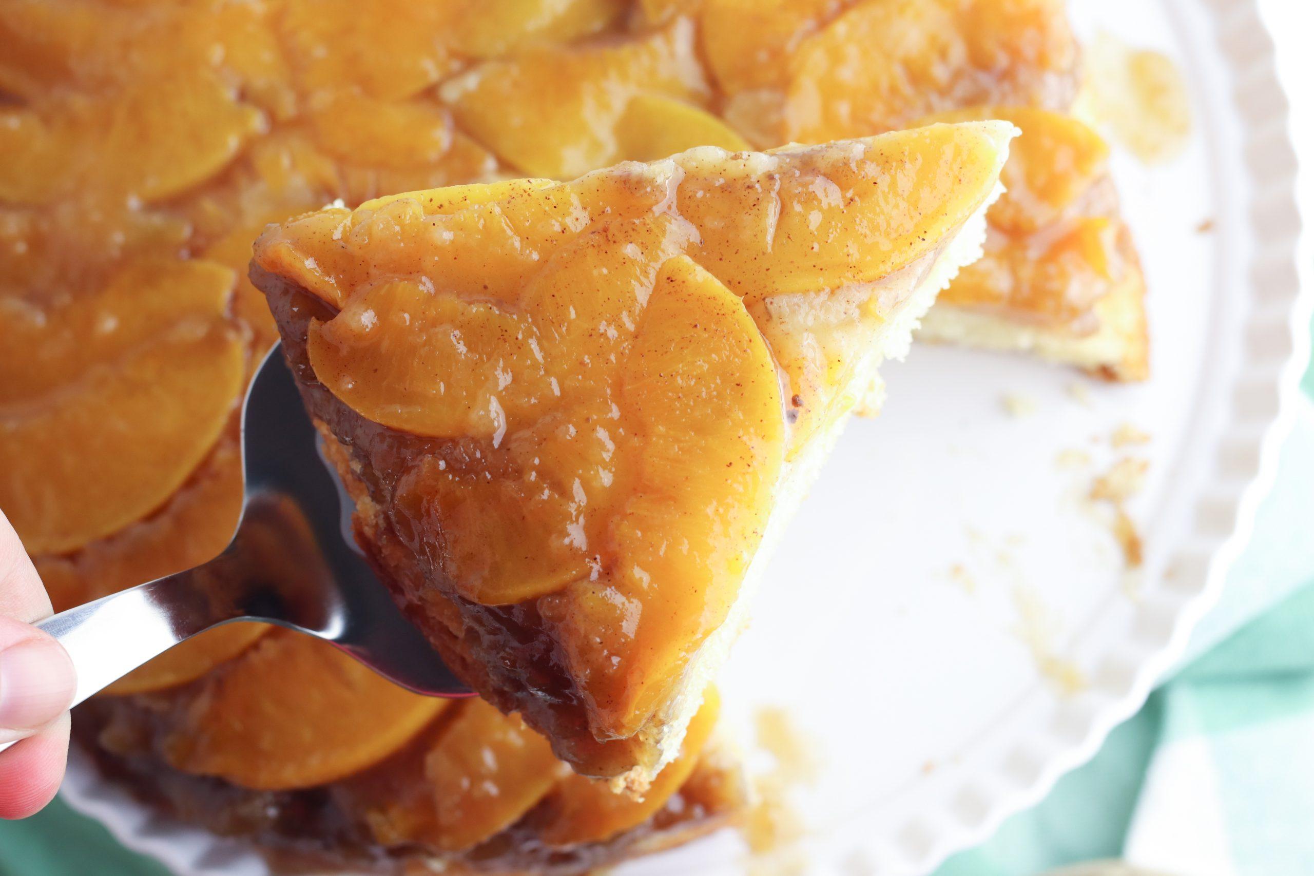 Peach Upside Down Cake Recipe is a great summer dessert recipe