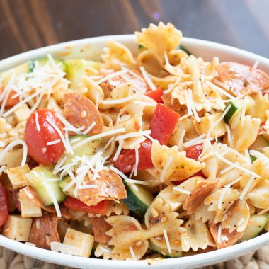 Salad Supreme Pasta Salad is a quick and easy side dish recipe.