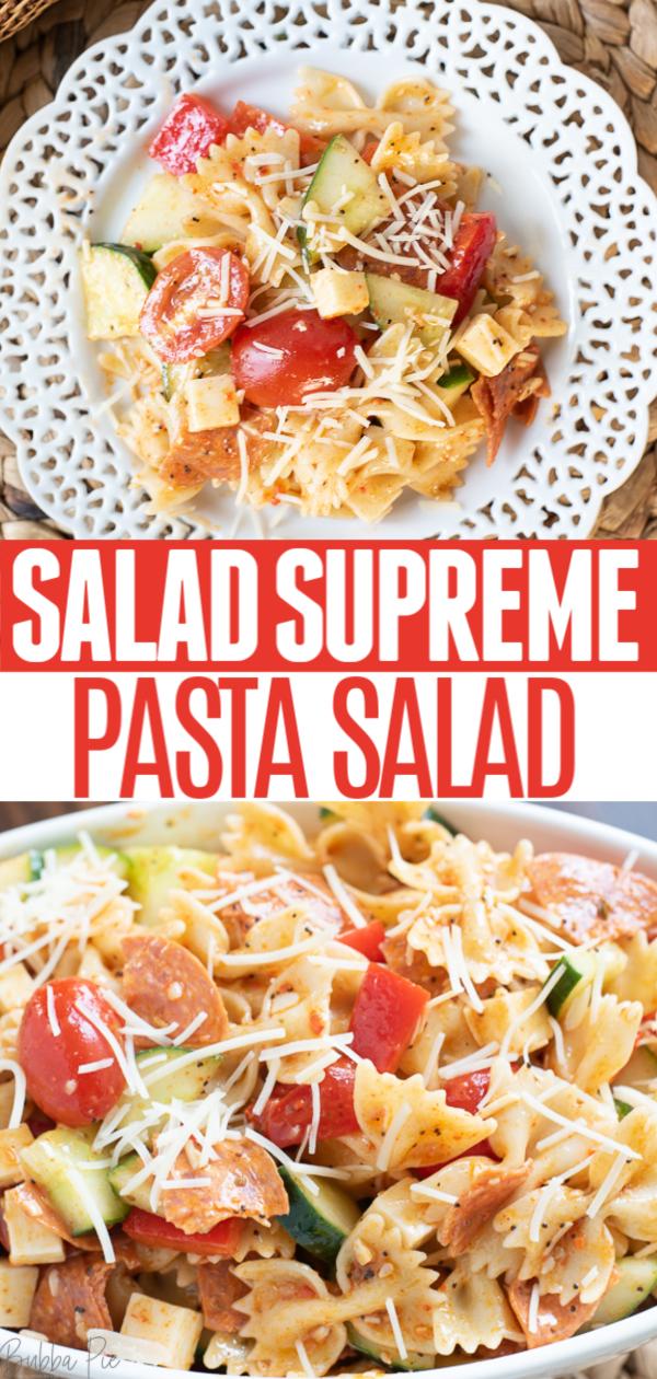 Salad Supreme Pasta Salad Pin 1