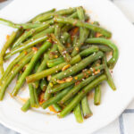 Spicy Green Beans made with Garlic Chili Paste