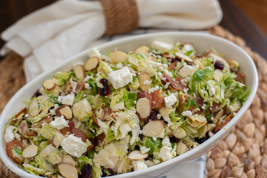 Brussels Sprouts Salad Recipe is a great Thanksgiving Dish