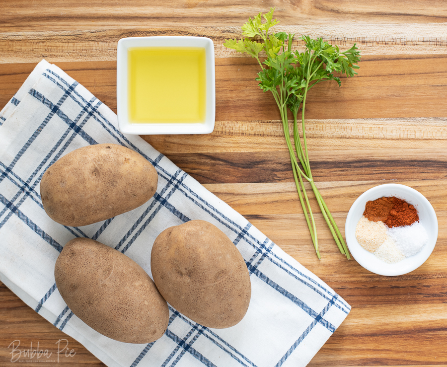 ajun Roasted Potatoes Ingredients include olive oil, cayenne pepper and others seasonings.