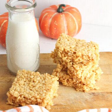Pumpkin Flavored Rice Krispie Treats