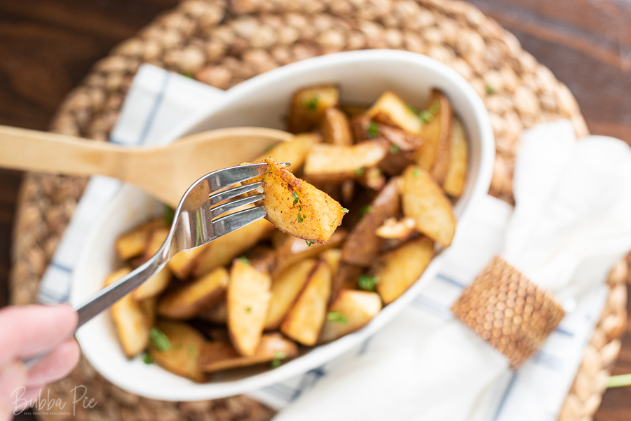 Roasted Potatoes with Cajun Seasoning made with Russet Potatoes.