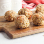 Bisquick Sausage Balls being served as an appetizer.