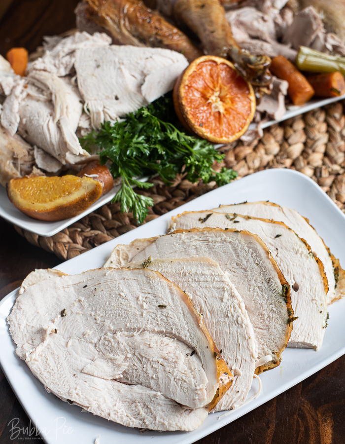 Herb Butter Roasted Turkey.