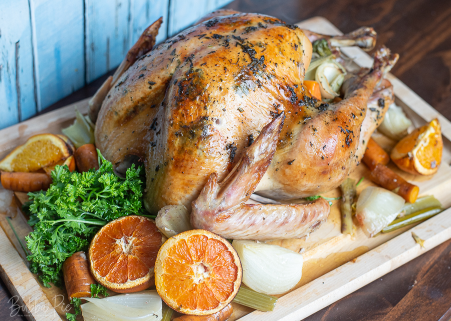 Thanksgiving Roasted Turkey with Herb Butter