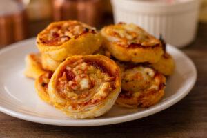 Cheesy Pinwheels with Pepperoni