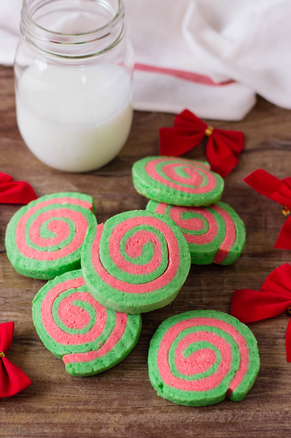 Christmas Cookie Pinwheels are a great holiday treat