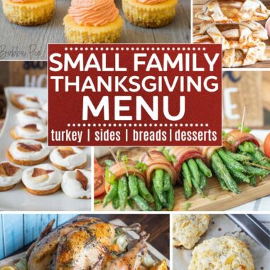 SMALL THANKSGIVING RECIPES FOR 6 PEOPLE OR LESS