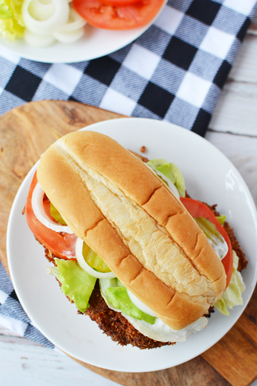 Breaded Pork Tenderloin Sandwich is a classic Indiana Dish.