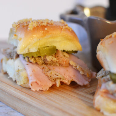 Easy Cuban Sliders are an easy lunch, dinner or appetizer.