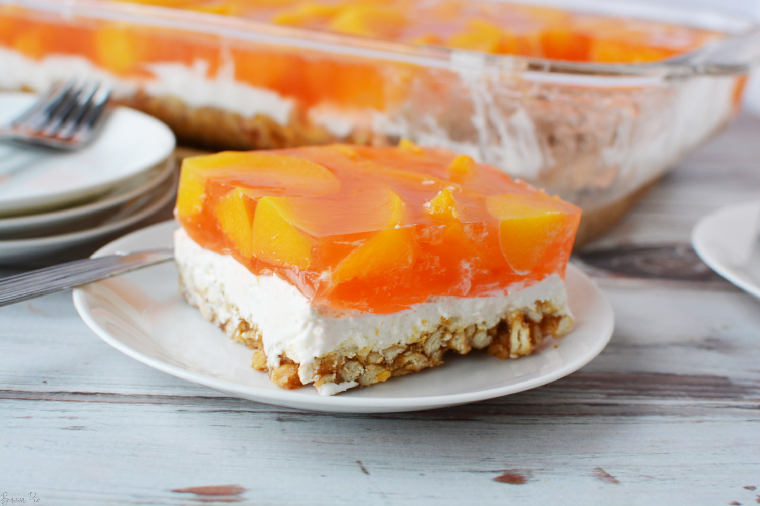 It is easy to learn How To Make A Peach Pretzel Salad