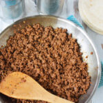 Brown Ground Beef in a skillet