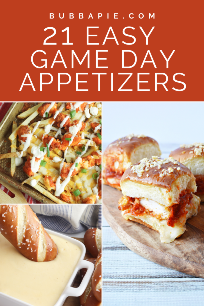 Game Day Appetizers Pin