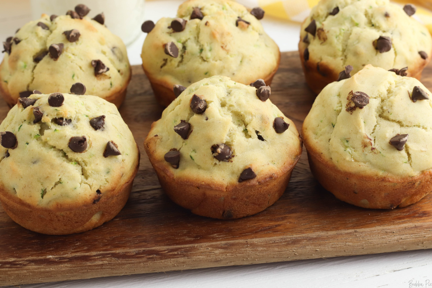 Banana Zucchini Muffins in a serving tray.