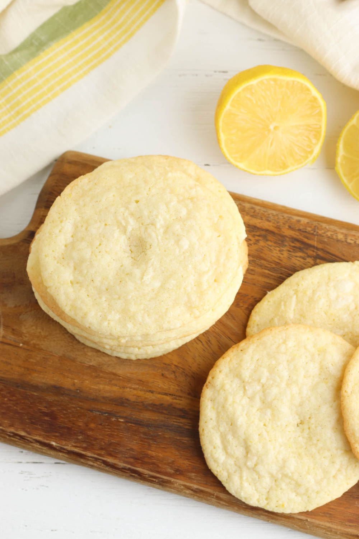 Easy Meyer Lemon Cookies being served for dessert.