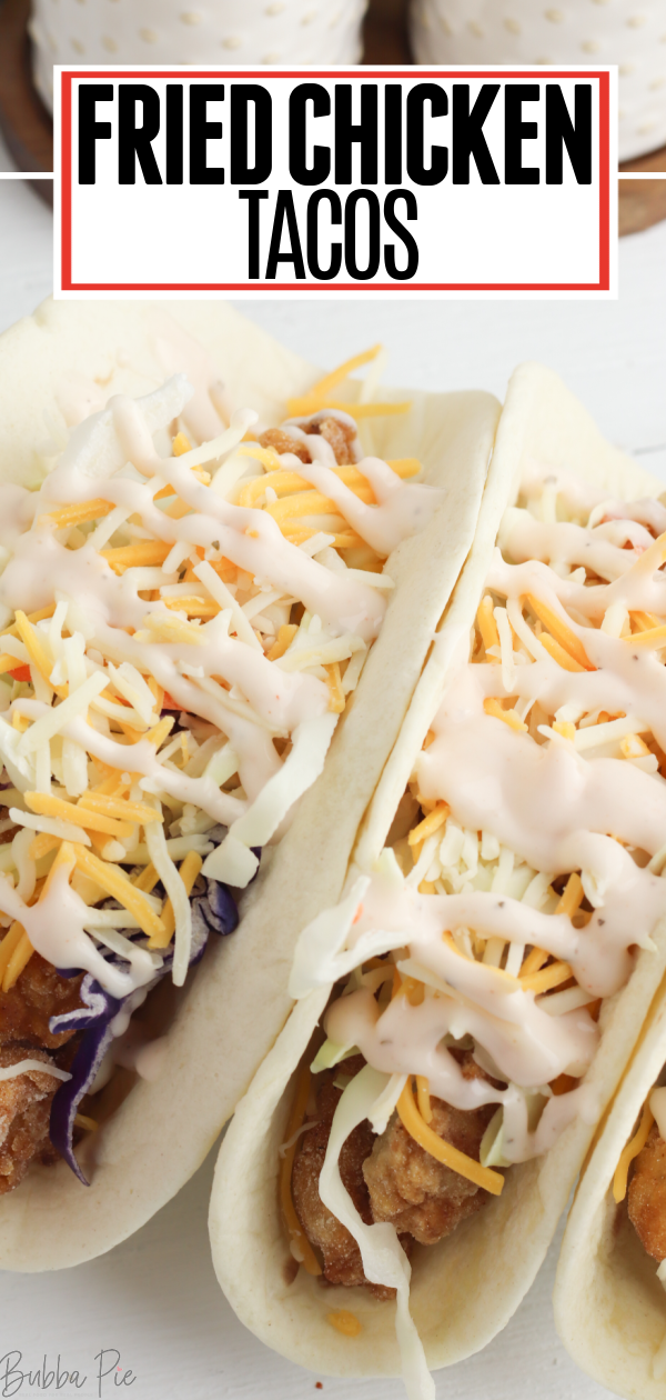 Fried Chicken Tacos Pin 1