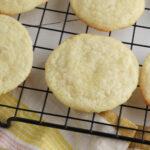 Lemon Cookies being cooled on rack.