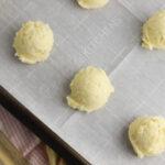 Meyer Lemon Cookies on a cookie sheet